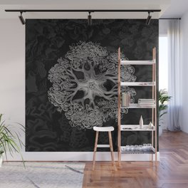 Jellyfish (Black and White) Wall Mural
