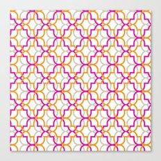 Moroccan Trellis Overlaps Canvas Print