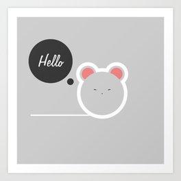 Hello Pets no.2 Art Print