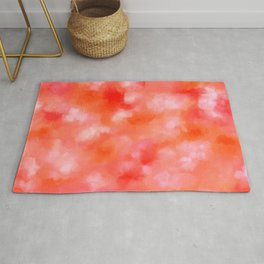 Coral in the Clouds - Abstract Marble Rug