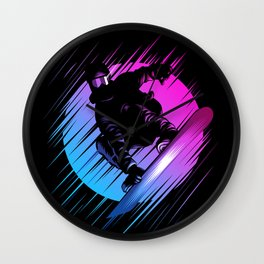 Rising Snowboard Wall Clock