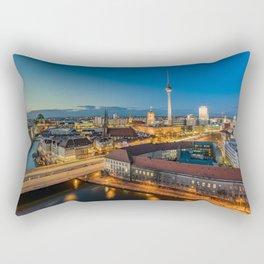 Berlin Blues Rectangular Pillow