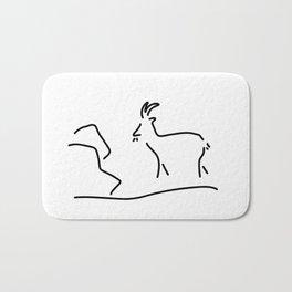 goat Capricorn Bath Mat