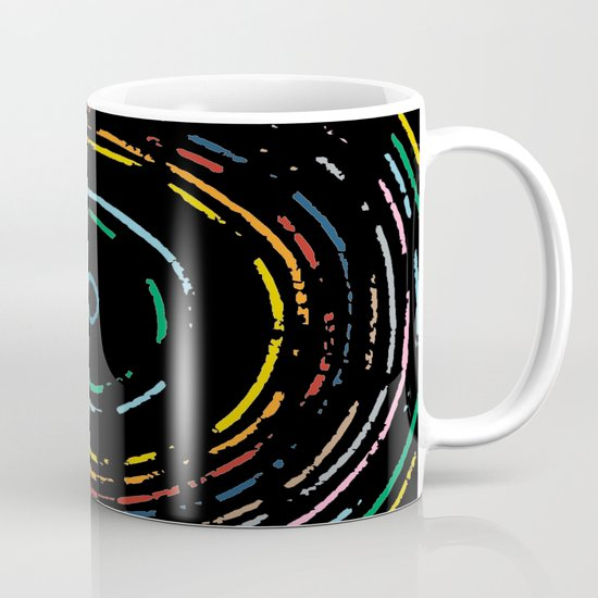 Rainbow Record on Black Closeup Mug