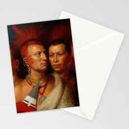 Young Omahaw, War Eagle, Little Missouri, and Pawnees Stationery Cards