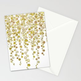golden string of pearls watercolor 2 Stationery Cards