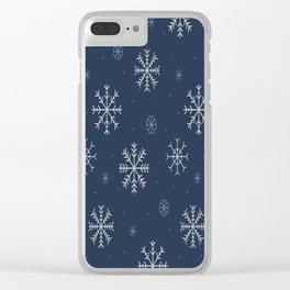 Artistic snowflakes pattern Clear iPhone Case