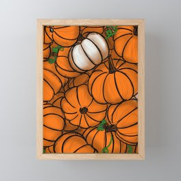Fall Pumpkin Patch Framed Mini Art Print