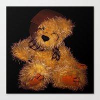 teddy bear Canvas Prints featuring Teddy by Doug McRae