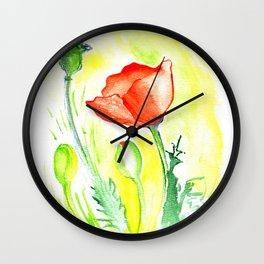 Papaver III Wall Clock