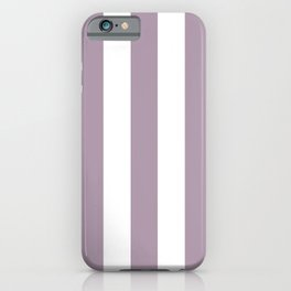 Lilac Luster violet - solid color - white vertical lines pattern iPhone Case