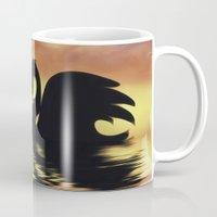black swan Mugs featuring Black Swan by Imagevixen