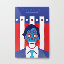 John Carpenter, Modern Master Series :: They Live Metal Print