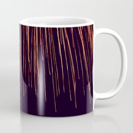 Beautiful Red and Orange Fireworks falling down in the sky! Coffee Mug