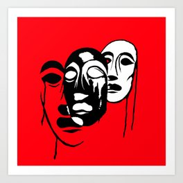 Love the Masks Art Print