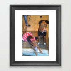 Mickey and Minnie Framed Art Print