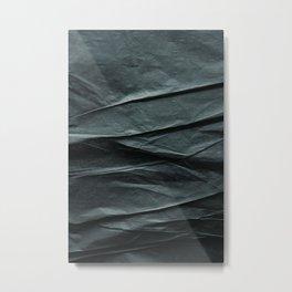 black paper MOUNTAINS Metal Print