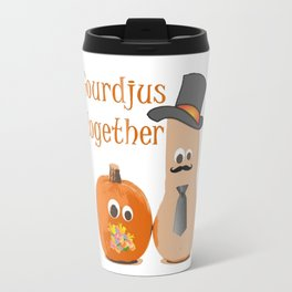Gourdjus Together Cute Just Married Wedding Vector Travel Mug