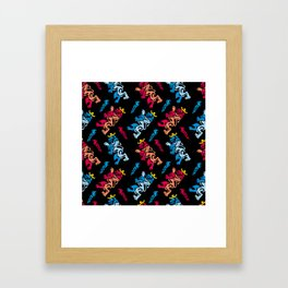 Royal pattern Framed Art Print