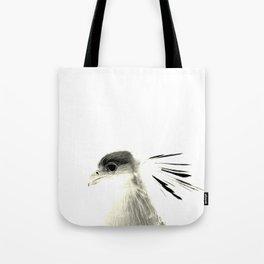 Secretary Bird on White Tote Bag