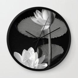 Black & White Lilypad Wall Clock