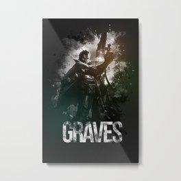 League of Legends Graves Metal Print