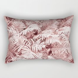 Fern Bush Blush Pink | Bedroom Art Rectangular Pillow