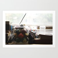 the office Art Prints featuring Office by Shelby Pollard