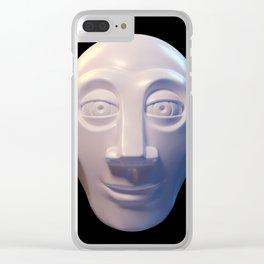 Alien-human hybrid head Clear iPhone Case