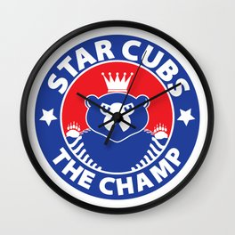 Star Cubs The Champ Wall Clock