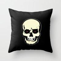 evil dead Throw Pillows featuring Evil Dead 2 - Dead by Dawn by Dukesman