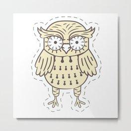 Evil Owl Metal Print