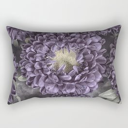 Metallic Purple Mums on a Metal Background Rectangular Pillow