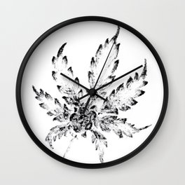 Black & White (Cannabis Resin Leaf) Wall Clock