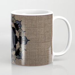 Lotus Mandala on Fabric Coffee Mug