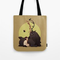 will graham Tote Bags featuring Will Graham & Nightmare Stag by Sutexii