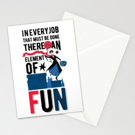 Mary Poppins Quote 3 Stationery Cards