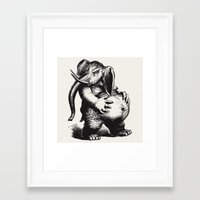 ganesha Framed Art Prints featuring Ganesha by MAZUR