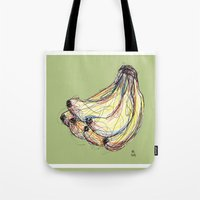 banana Tote Bags featuring Banana by Ursula Rodgers