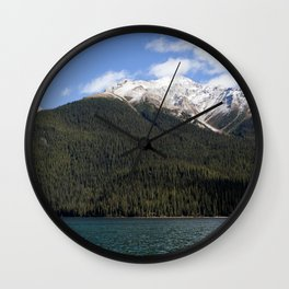 Mountains of Maligne Lake 4 Wall Clock