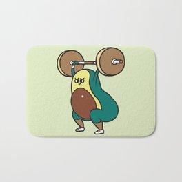 The snatch weightlifting Avocado Bath Mat