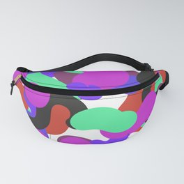 Colorful pattern abstract purple Fanny Pack