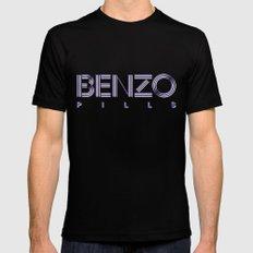 Benzo Pills Mens Fitted Tee MEDIUM Black
