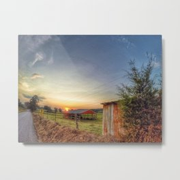 Sunset on County Rd 925 Metal Print