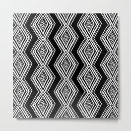 diamondback in black & white Metal Print