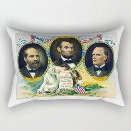 Garfield, Lincoln, and McKinley -- In Memoriam Rectangular Pillow
