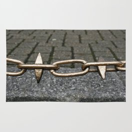 Chained link fence Rug