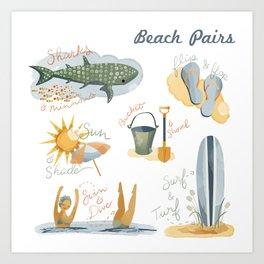 Beach Pairs Art Print
