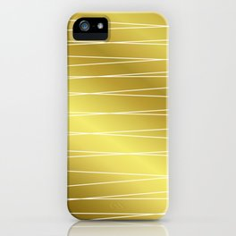 Gold Lines iPhone Case
