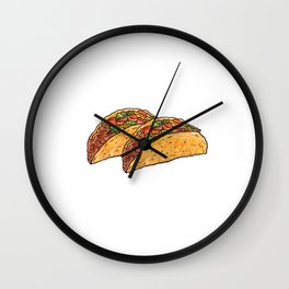 Tacos Rule Graphic Mexican T-shirt Wall Clock